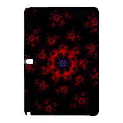 Fractal Abstract Blossom Bloom Red Samsung Galaxy Tab Pro 10 1 Hardshell Case