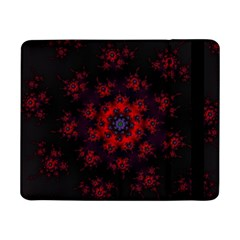 Fractal Abstract Blossom Bloom Red Samsung Galaxy Tab Pro 8 4  Flip Case