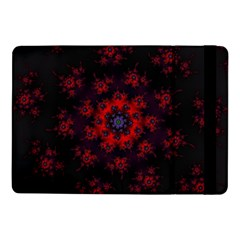 Fractal Abstract Blossom Bloom Red Samsung Galaxy Tab Pro 10 1  Flip Case