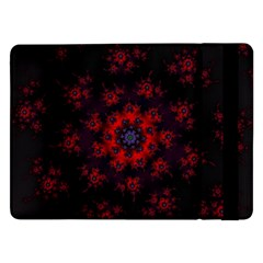 Fractal Abstract Blossom Bloom Red Samsung Galaxy Tab Pro 12 2  Flip Case
