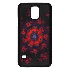 Fractal Abstract Blossom Bloom Red Samsung Galaxy S5 Case (black)