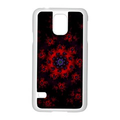 Fractal Abstract Blossom Bloom Red Samsung Galaxy S5 Case (white)