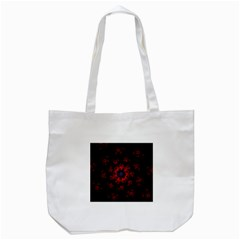 Fractal Abstract Blossom Bloom Red Tote Bag (white)