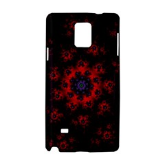 Fractal Abstract Blossom Bloom Red Samsung Galaxy Note 4 Hardshell Case