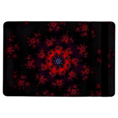 Fractal Abstract Blossom Bloom Red Ipad Air 2 Flip