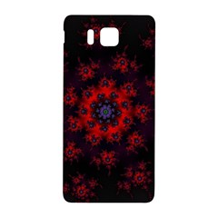 Fractal Abstract Blossom Bloom Red Samsung Galaxy Alpha Hardshell Back Case