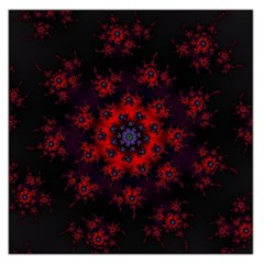 Fractal Abstract Blossom Bloom Red Large Satin Scarf (square)