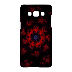 Fractal Abstract Blossom Bloom Red Samsung Galaxy A5 Hardshell Case