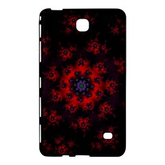 Fractal Abstract Blossom Bloom Red Samsung Galaxy Tab 4 (7 ) Hardshell Case