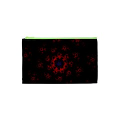Fractal Abstract Blossom Bloom Red Cosmetic Bag (xs)