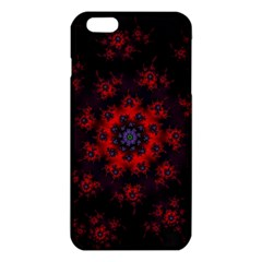Fractal Abstract Blossom Bloom Red Iphone 6 Plus/6s Plus Tpu Case