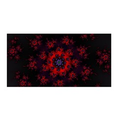 Fractal Abstract Blossom Bloom Red Satin Wrap