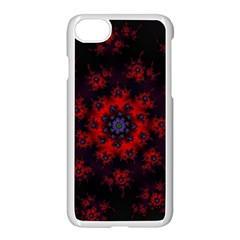 Fractal Abstract Blossom Bloom Red Apple Iphone 7 Seamless Case (white)