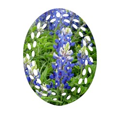Blue Bonnets Oval Filigree Ornament (Two Sides)