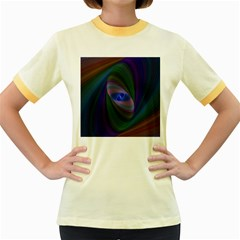 Ellipse Fractal Computer Generated Women s Fitted Ringer T Shirts