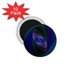 Ellipse Fractal Computer Generated 1 75  Magnets (10 Pack)