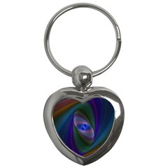 Ellipse Fractal Computer Generated Key Chains (Heart)