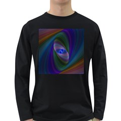 Ellipse Fractal Computer Generated Long Sleeve Dark T-Shirts