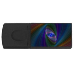 Ellipse Fractal Computer Generated Usb Flash Drive Rectangular (4 Gb)