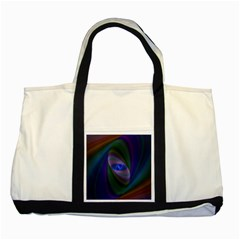 Ellipse Fractal Computer Generated Two Tone Tote Bag