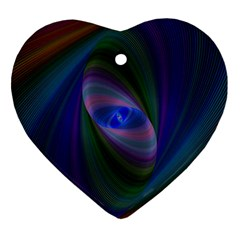 Ellipse Fractal Computer Generated Heart Ornament (Two Sides)