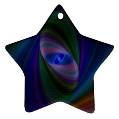 Ellipse Fractal Computer Generated Star Ornament (two Sides)