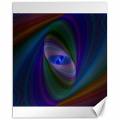 Ellipse Fractal Computer Generated Canvas 16  X 20