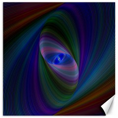 Ellipse Fractal Computer Generated Canvas 20  x 20