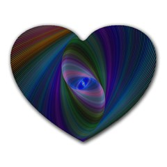 Ellipse Fractal Computer Generated Heart Mousepads