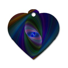 Ellipse Fractal Computer Generated Dog Tag Heart (two Sides)