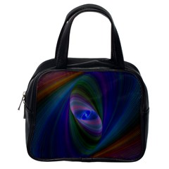 Ellipse Fractal Computer Generated Classic Handbags (one Side)