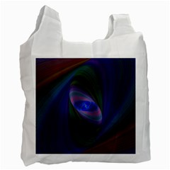 Ellipse Fractal Computer Generated Recycle Bag (one Side)