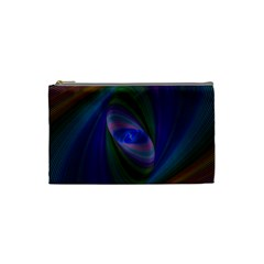 Ellipse Fractal Computer Generated Cosmetic Bag (Small)