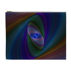 Ellipse Fractal Computer Generated Cosmetic Bag (xl)