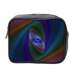 Ellipse Fractal Computer Generated Mini Toiletries Bag 2 Side