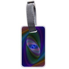 Ellipse Fractal Computer Generated Luggage Tags (two Sides)