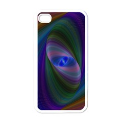 Ellipse Fractal Computer Generated Apple Iphone 4 Case (white)