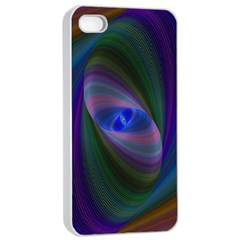 Ellipse Fractal Computer Generated Apple Iphone 4/4s Seamless Case (white)