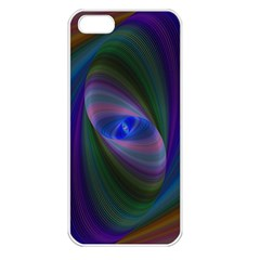 Ellipse Fractal Computer Generated Apple Iphone 5 Seamless Case (white)