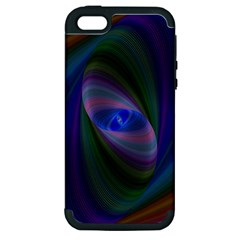Ellipse Fractal Computer Generated Apple Iphone 5 Hardshell Case (pc+silicone)