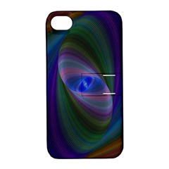 Ellipse Fractal Computer Generated Apple Iphone 4/4s Hardshell Case With Stand