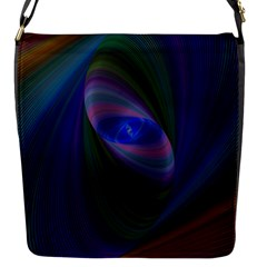 Ellipse Fractal Computer Generated Flap Messenger Bag (s)
