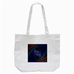 Ellipse Fractal Computer Generated Tote Bag (white)