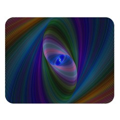 Ellipse Fractal Computer Generated Double Sided Flano Blanket (large)