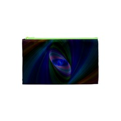 Ellipse Fractal Computer Generated Cosmetic Bag (XS)
