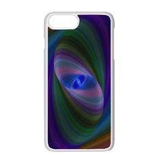 Ellipse Fractal Computer Generated Apple Iphone 7 Plus White Seamless Case