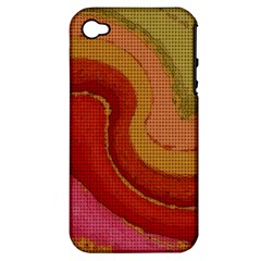 Candy Cloth Apple Iphone 4/4s Hardshell Case (pc+silicone)