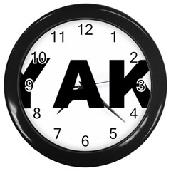 Akbash Love Wall Clocks (Black)
