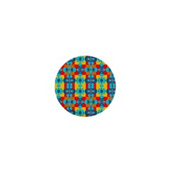Pop Art Abstract Design Pattern 1  Mini Magnets
