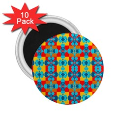 Pop Art Abstract Design Pattern 2 25  Magnets (10 Pack)